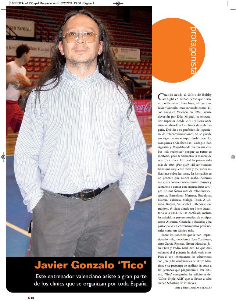 A través de este enlace podréis leer la Entrevista que la Revista especializada en Balonceto Gigantes del Basket realizó a Tico el 02/07/2009