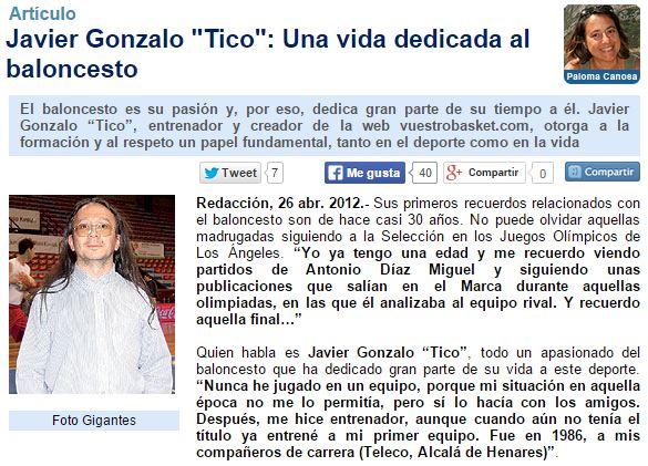 A través de este enlace puedes leer la Entrevista que acb.com realizó a Tico con motivo del Primer Aniversario del lanzamiento de vuestrobasket.com