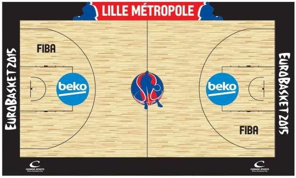 En esta imagen podemos ver el diseños de la pista de Lille, sede de la Fase Final del EuroBasket 2015