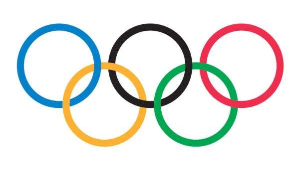 En esta imagen podemos ver los Anillos Olímpicos del Comité Olímpico Internacional, COI, 5, cada uno de un color distinto: azul, negro, rojo, amarillo y verde (de izquierda a derecha y de arriba a abajo)