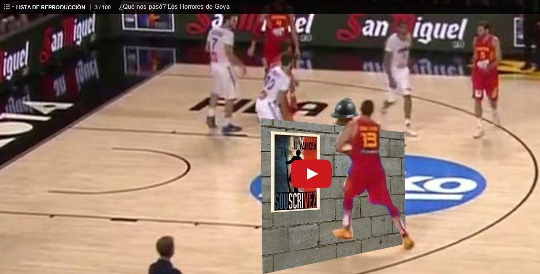 En esta imagen podemos ver uno de los fotogramas del Vídeo de Análisis de la Eliminación de la Selección Española de Baloncesto en el reciente Mundial 2014, Vídeo realizado uno de los Maestros del Análisis en Vídeo, Piti Hurtado