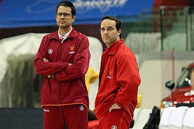En esta foto podemos ver a Pedro Martínez junto a uno de sus Ayudantes en Girona, Diego Ocampo, donde entrenaron, entre otros, a Marc Gasol
