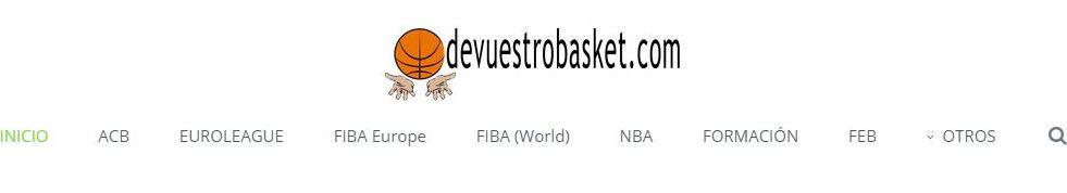 En esta imagen se puede ver el Nuevo Logo y el Sticky Menu de devuestrobasket.com, en su Segunda Versión del día