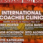 International @Euroleague Final Four Coaches Clinic 2015 en Madrid (V)