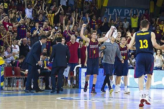 En esta foto podemos ver cómo el Palau Blaugrana apoya al Barcelona