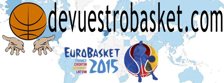 Logo devuestrobasket para el EuroBasket 2015, con Autorización de Uso, por escrito, de FIBA Europe