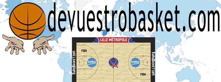 Logo devuestrobasket para la Fase Final (de Lille) del EuroBasket 2015, con Autorización de Uso, por escrito, de FIBA Europe