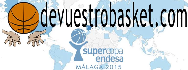 Logo devuestrobasket para la Supercopa ACB 2015 de Málaga, la Tercera, con Autorización de Uso, por escrito, de la ACB