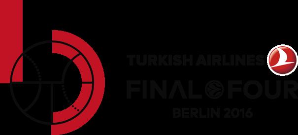 En esta imagen podemos ver el Logo de la Final Four 2016 de la Euroliga de Baloncesto que se disputará en mayo en Berlín, jugándose el viernes 13 las Semifinales y el domingo 15 la Final