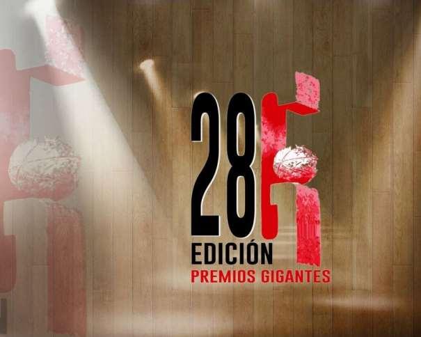 En esta foto podemos ver el Logo de la Vigésimo Octava Edición de los Premios Gigantes del Basket
