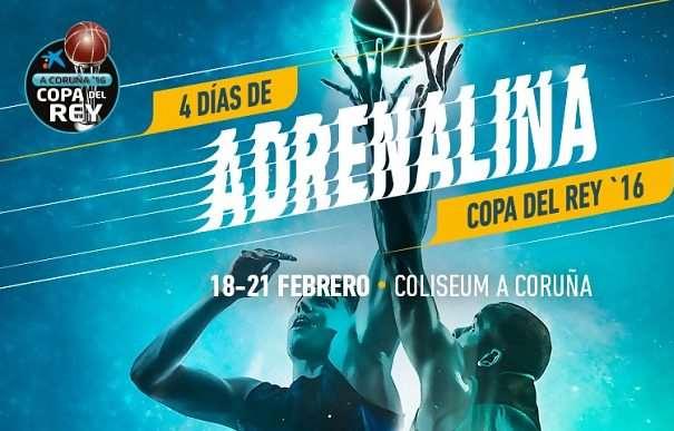 En esta imagen podemos ver las fechas de la Copa ACB 2016 de A Coruña en la que el Obradoiro será el Anfitrión: del 18 al 21 de febrero