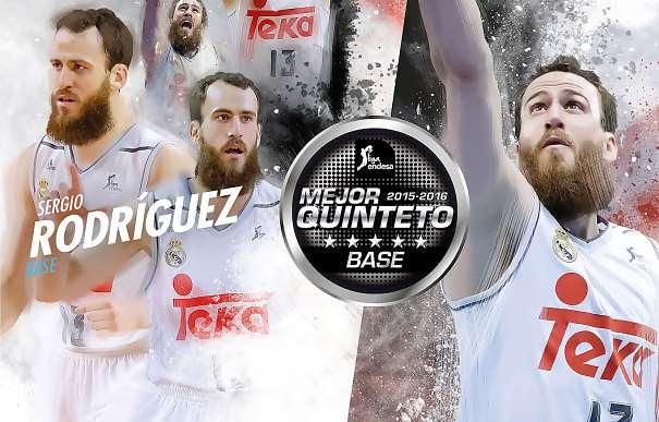 En esta imagen podemos ver a Sergio Rodríguez en algunos momentos de la Liga Regular ACB 2015-2016