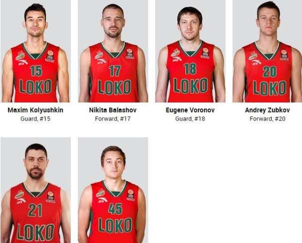 En esta imagen, tomada de la web Oficial del Lokomotiv Kuban, podemos ver a Evgeny Voronov, Andrey Zubkov y Ryan Broekhoff, entre otros