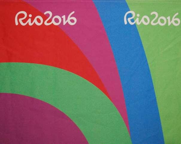 En esta foto podemos ver un detalle de la decoración de la Sala Catira, adjunta al Main Press Center en el que se puede leer la palabra Rio2016