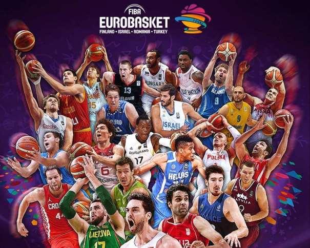 En esta imagen podemos ver a Pau Gasol, a Milosh Teodositch, a Ionas Valanchiuunas y a Nando de Colo, entre otros Jugadores de Baloncesto