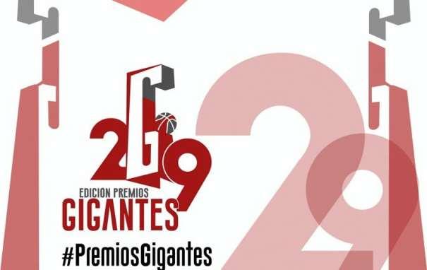 En esta imagen podemos ver el Cartel de la Gala Gigantes, de la Entrega de Premios de la 29 Edición de los Premios Gigantes, en Madrid, en enero de 2017, presentada por Mari Albertos y Quique Peinado, con su G característica
