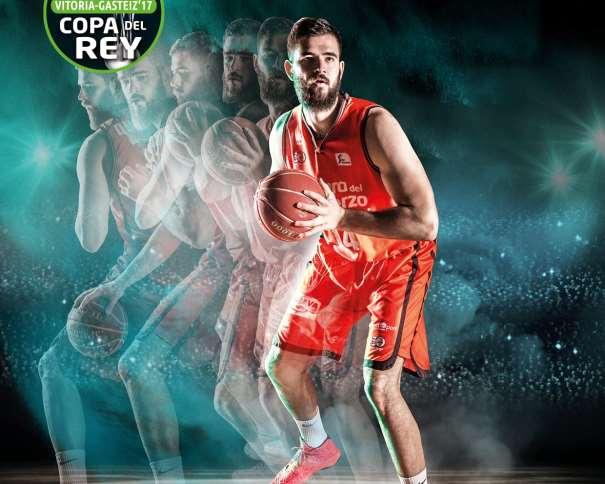 En esta imagen podemos ver un Detalle del Cartel del València para la Copa ACB 2017 de Vitoria-Gasteiz, en el que aparece su MVP, Boian Dubllevitch