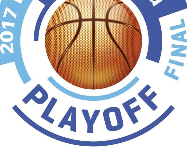 """En esta imagen podemos ver el Logotipo (Logo) del Playoff Final de la Liga ACB 2016-2017 (""""impar"""", """"de 17""""), el mismo, o muy similar, de las últimas Temporadas, variando solo el número del año, """"imagen corporativa"""" de estos Playoffs"""
