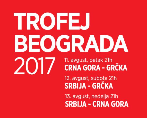 En esta imagen, tomada de la web Oficial de la Federación Serbia de Baloncesto, podemos ver un detalle del Cartel del Torneo de Belgrado 2017, donde se ven los días y las horas de los Partidos disputados por las Selecciones de Montenegro, Grecia y Serbia