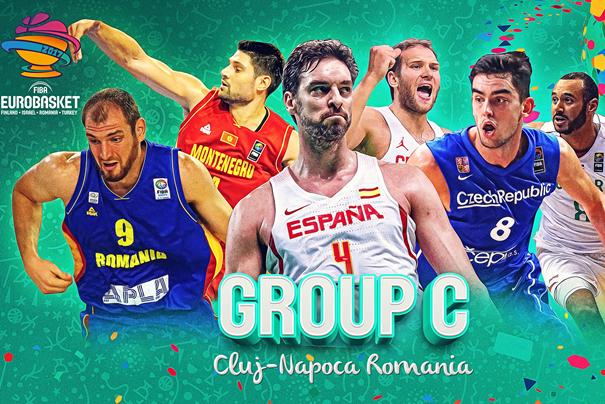 En esta imagen podemos ver a Pau Gasol, el Jugador Estrella del Grupo C del EuroBasket FIBA 2017, la Estrella de la sede de Cluj-Napoca