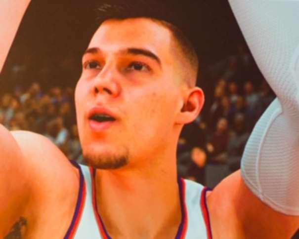 En esta foto, facilitada por CodeBare, podemos ver la digitalización que el Juego NBA 2K18 ha hecho de Vili Hernangómez