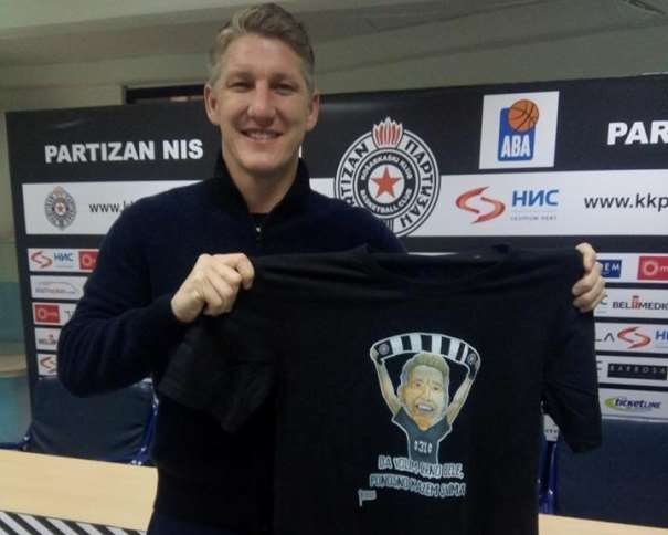 Bastian Schweinsteiger Photo: facebook.com/bcpartizan