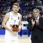 (7) Luka Dončić, MVP de la @EuroLeague; (23) Tornike Shengelia, de la ACB