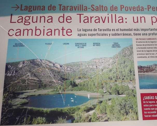 Laguna de Taravilla (Detalle del Panel Explicativo) Foto facilitada por nosvamosdeaventura.com (NVDA)
