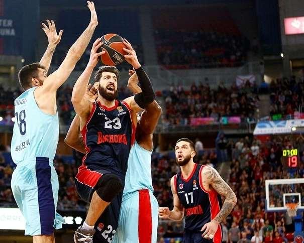 (23) Tornike Shengelia (თორნიკე შენგელია), Co-MVP de la Decimocuarta Jornada de la Regular Season de la @EuroLeague 2017-2018 Foto: euroleague.net