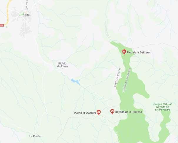 nos vamos de aventura, Hayedo la Pedrosa y Senda los Molinos, Puerto Quesera senderismo Google Maps