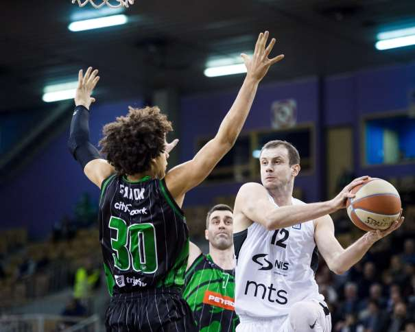 Novica Velickovic, in action during ABA Liga basketball match between Petrol Olimpija and Partizan, Tivoli, Ljubljana, Slovenia on February 10, 2018 (Photo: Petrol Olimpija/Ales Fevzer)