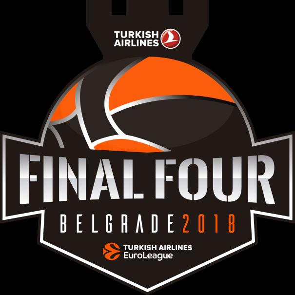Logo Oficial de la Próxima @EuroLeague Final Four 2018 de Belgrado (Beograd, la Ciudad Blanca, Беoград) Logo facilitado por la propia @EuroLeague
