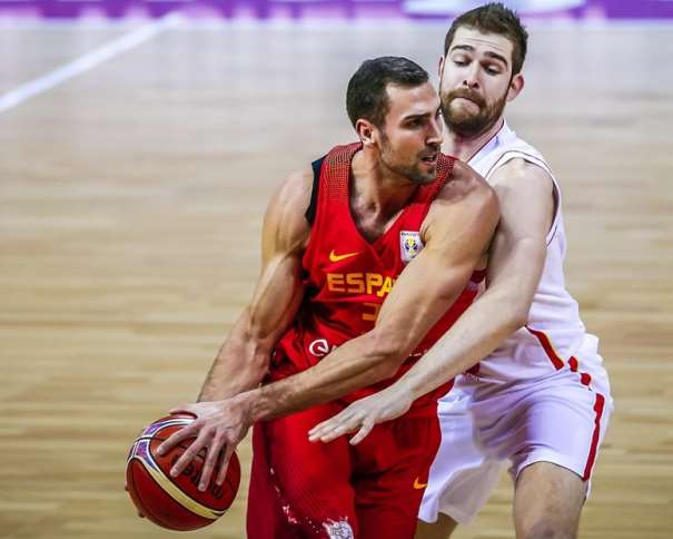 34 Pablo Aguilar (ESP) 34 Pablo Aguilar (ESP), Spain v Mntenegro, 2019 FIBA Basketball World Cup 2019 European Qualifiers, Zaragoza -Pabellon Principe Felipe(ESP), First Round, 26 February 2018