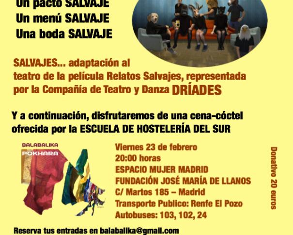 "Gala Solidaria, Fila 0, Salvajes Imagen facilitada por la Fundación Balabalika Pokhara, ""contigo crecemos"""