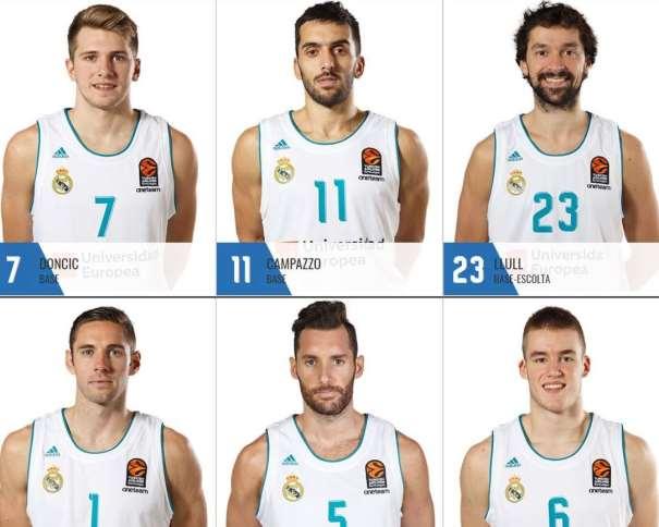 Jugadores del Madrid 2017-2018 Imagen: realmadrid.com
